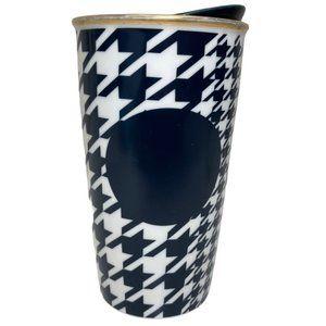 Starbucks Blue Dot Herringbone Print Travel Mug